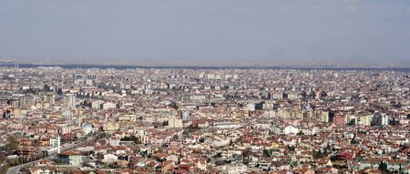 view of konya city from the hills