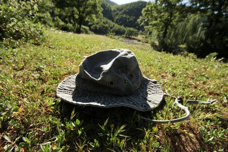 safari hat in beautiful nature