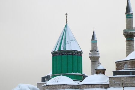 Mevlana museum tomb in winter day 版權商用圖片
