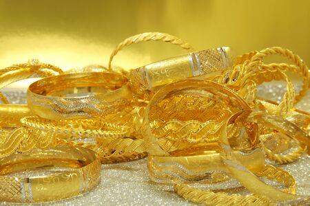 Elegant gold bracelets. Yellow gold.