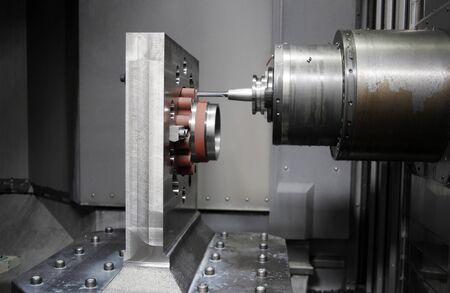 CNC machine drill. Metalworking CNC milling machine.
