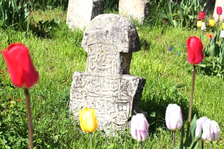 Old stones in the cemetery