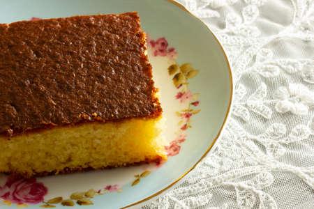 Homemade traditional Turkish dessert Revani