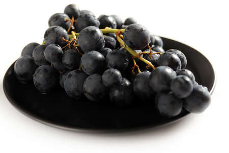 Fresh dark red grapes close up Stok Fotoğraf