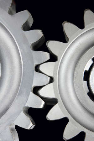 stainless steel gear wheels close up