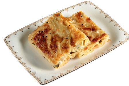 Cheese and spinach pie. Su Boregi. 写真素材