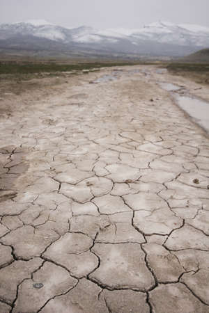 Climate change drought land. Global warming.