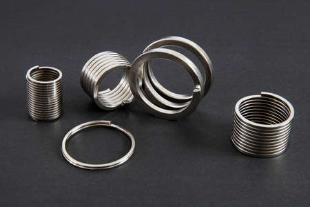 Metal springs in different sizes