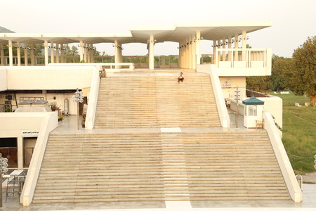 Stairs of Faisal Mosque in Pakistan Editorial