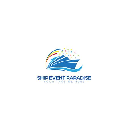 Ship Event and Party Logo Design, Ship Paradise Logo