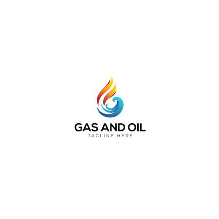 Abstract Letter G with For Gas And oil Logo, Orange is Gas and Blue for the abstract oil