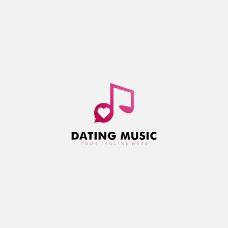 modern logo dating music with not music