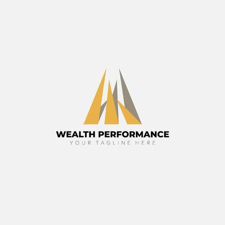 wealth performance financial logo designs Ilustrace