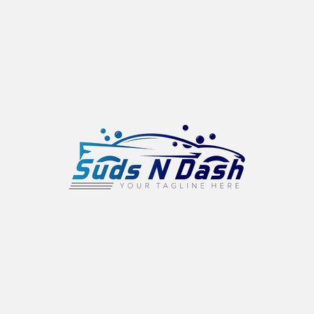 bubble Dash car wash logo designs