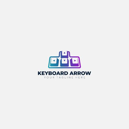 keyboard arrows abstract logo designs with colorful Фото со стока - 129793209