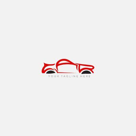 lettering logotype automotive initial Car logo design Illusztráció