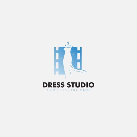 dress studio modern logo designs minimalist and feminine
