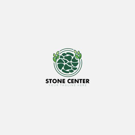 Stone and Brick Center With Grass Modern Logo Designs