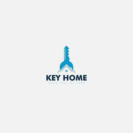 Key and Home Location Modern Logo Designs