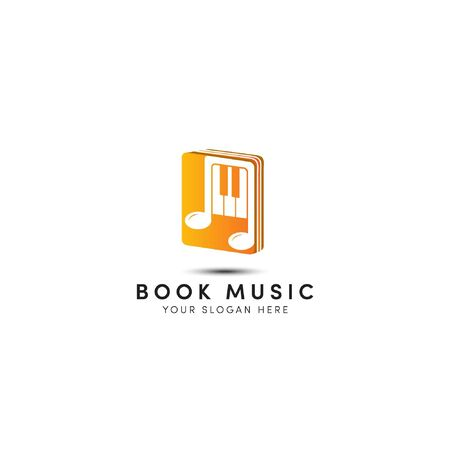 close the music book, music book logo designs with not piano