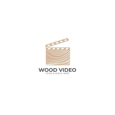 brown and wood video logo movie industrial