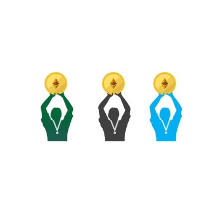 human Championship and winner medal illustration