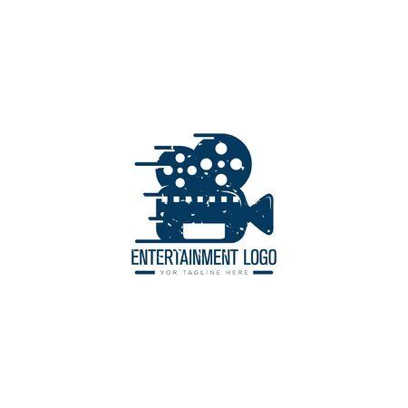 Entertainment video logo designs retro logo classic