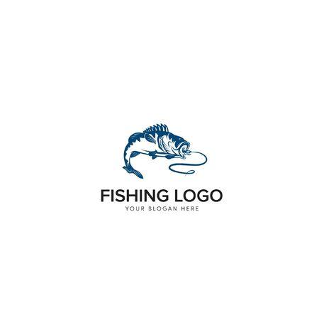 bass fishing logo modern logo big bass icon