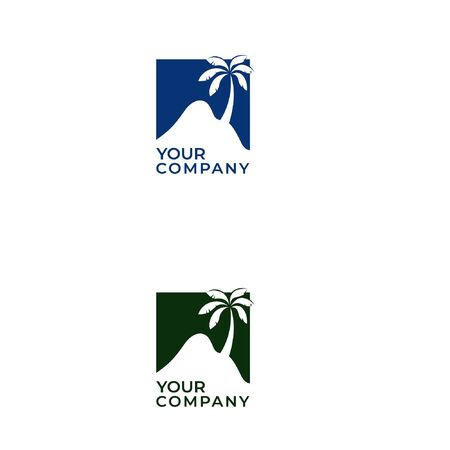 Camel desert and palm logo design with lettering