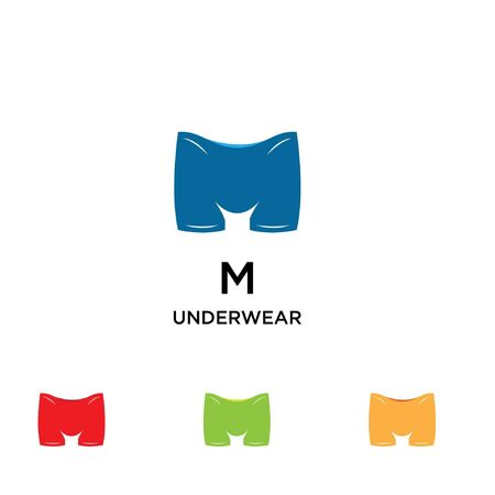 under ware man short logo with initial M logo