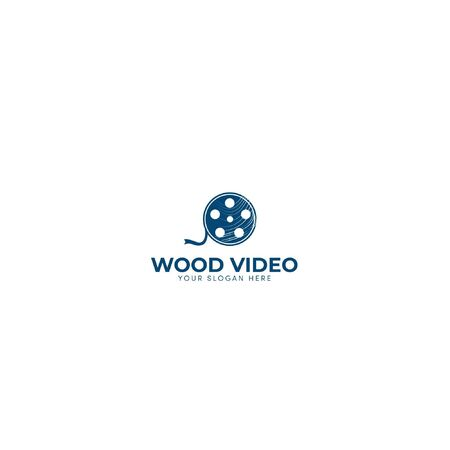 navy blue and wood video logo designs industrial production