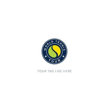 World Championship Tennis Logo sport yellow and green ball logo