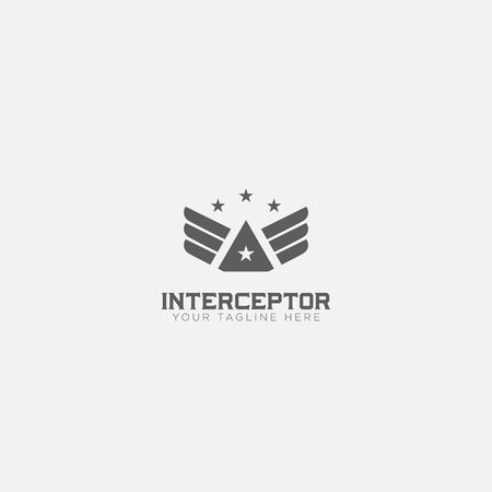 Wings Interceptor logo designs with 4 stars