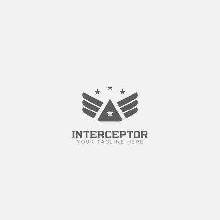 Wings Interceptor logo designs with 4 stars