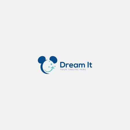 travel Disney logo design with mickey logo