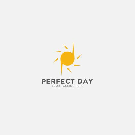 Perfect Day logo with letter P and D and sun logo