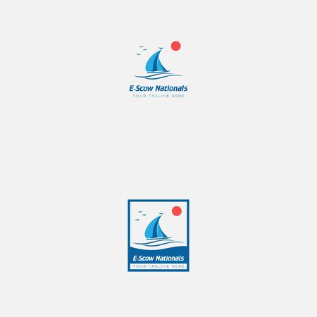 e scow nationals logo designs 向量圖像