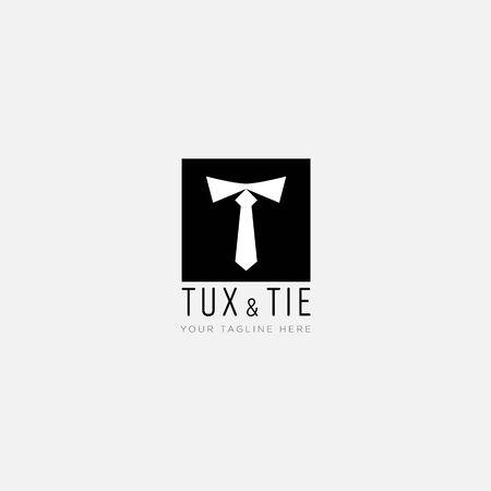 initial T like Tie and square logo designs