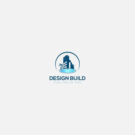 design build swimming logo design and construction swimming