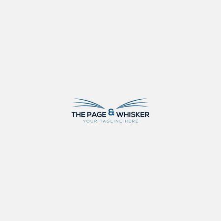 whisker logo design like page the book
