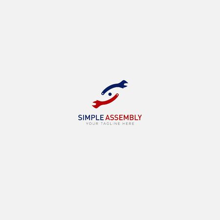 Simple assembly with equipment and like letter S
