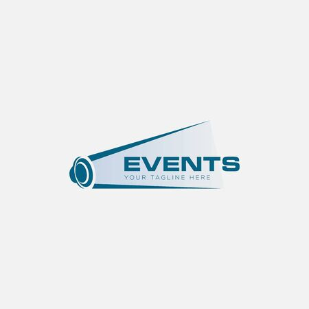 events sound and music logo designs Stock Illustratie