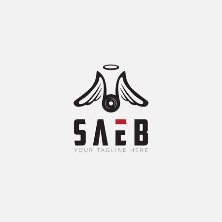 Saeb logo designs with angels and Wings logo