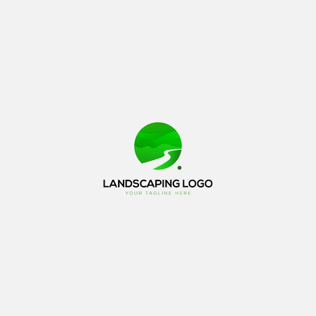 green landscaping natural and abstract logo Stock Illustratie