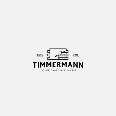 bricker timmermann and construction classic logo design