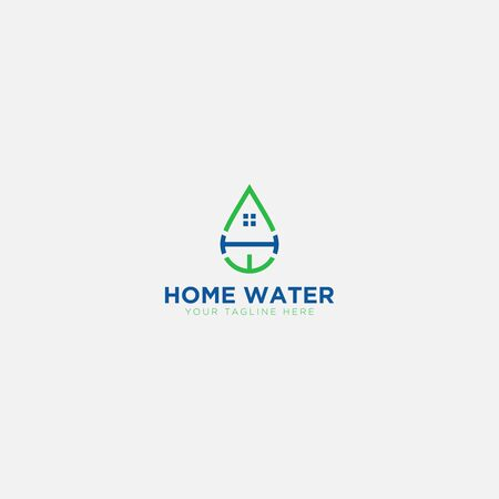 Home Water with initial letter H and W like water
