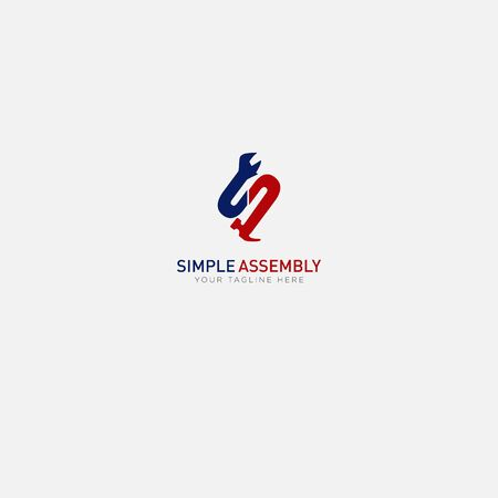 Simple assembly with tools and letter S