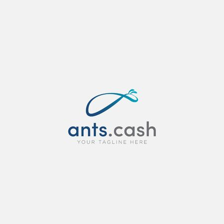 ant cash logo design abstract the ant
