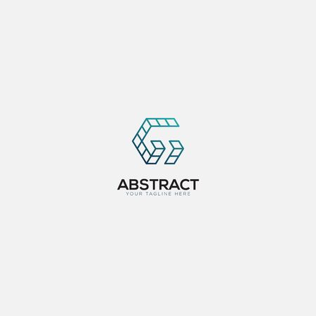 abstract initial G and Box logo design