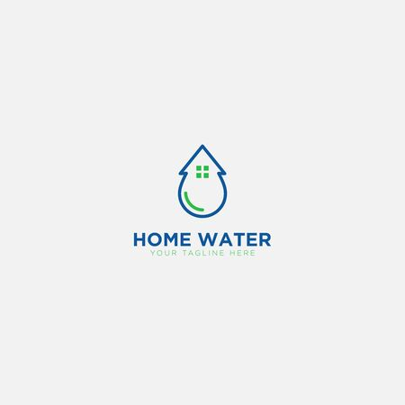 Home Water logo design and modern home logo
